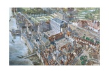 Old London Reconstructed: the Palace of Whitehall About 1680 Giclee Print by Peter Jackson