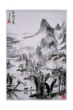 Painting by Li K'e-Jan: 'Southern Chinese Landscape in Spring Rain' Giclee Print
