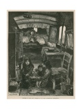 Sketches of Gipsy Life; Interior of Van Near Latimer Road, Notting Hill Giclee Print by William Heysham Overend
