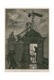 Measuring the Wind; a Sketch at the Royal Observatory, Greenwich Giclee Print by William Bazett Murray