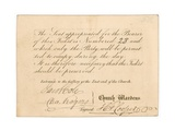Admission Ticket to St Margaret's Vestry Gallery, for the Coronation of Queen Victoria, 28 June… Giclee Print