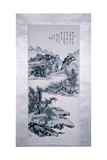 "Painting by Huang Pin-Hung:""Mountain Landscape with Hermit Settlements"" Giclee Print"