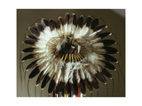 The Eagle Feather War Bonnet, Symbol of the Outstanding Warrior and a Source of Spiritual Power… Giclee Print