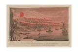 View of Part of London as it Appeared in the Great Fire, 1666 Giclee Print by T. Prattent