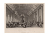 Long Room in the Custom House, London, for the Paying of Customs Duty Giclee Print by Thomas Hosmer Shepherd
