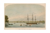 Prince of Wales Frigate on the Serpentine Giclee Print by Alexandre le Bihan