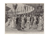 The County Bazaar at the Earl's Court Military Exhibition Giclee Print by Frederic De Haenen
