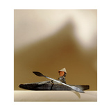Model of an Aleut Hunter in His Kayak Giclee Print