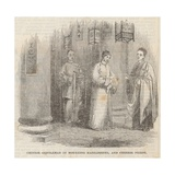 Chinese Gentleman in Mourning Habiliments and Chinese Priest Giclee Print by William Henry Prior