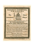 Maelzel's Exhibition, 29 St James's Street, the Automaton Chess Player, C 1825 Giclee Print