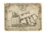 Survey and Ground Plot of the Royal Palace of Whitehall, 1680, with the Lodgings and Apartments… Giclee Print