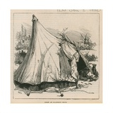 Sketches of Gipsy Life; Tent at Hackney Wick Giclee Print by William Heysham Overend