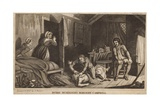 Burke Murdering Margery Campbell Giclee Print by Robert Seymour