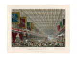Interior of the Crystal Palace, Or, Great Building for International Exhibition, Hyde Park Giclee Print by Thomas Hosmer Shepherd