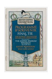 Fa 1923 Cup Final Programme Giclee Print