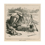 Sketches of Gipsy Life; Tent at Hackney Giclee Print by William Heysham Overend