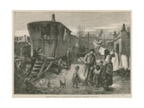 Sketches of Gipsy Life; an Encampment Near Latimer Road, Notting Hill Giclee Print by William Heysham Overend