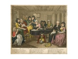 The Funeral of Poor Mary Hackabout, Attended by the Sisterhood of Drury Lane Giclee Print by William Hogarth