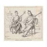 Chinese Gentlemen Playing Court Giclee Print by Alfred Crowquill