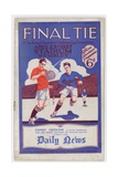 Fa 1927 Cup Final Programme Giclee Print