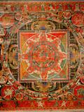 Thang-Ka Depicting a Mandala, Used as an Instrument of Meditation Reproduction procédé giclée