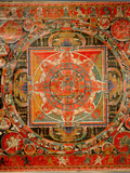 Thang-Ka Depicting a Mandala, Used as an Instrument of Meditation Wydruk giclee