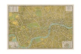 Pictorial Map of London Giclee Print