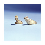 Flat-Bottomed Figurines with Human Heads Giclee Print
