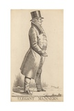 Charles Manners Sutton; 1st Viscount Canterbury; Elegant Manners Giclee Print by Richard Dighton