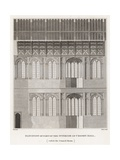 Elevation of Part of the Interior of Crosby Hall Giclee Print by Frederick Nash