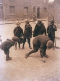 Children Playing in the Streets of London Photographic Print