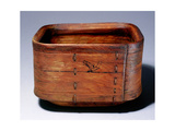 Bentwood Tub, Used for Hauling Water, Holding Food or Storing Urine to Be Used in Processing Hides Wydruk giclee