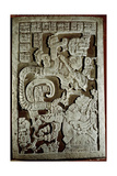 Lintel 25 of Yaxchilan Structure 23, Showing Accession Rituals of the Ruler Shield Jaguar… Giclée-tryk