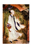 "A Taoist ""Immortal"" Playing a Flute in the Tao Paradise Giclee Print"