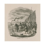 The Promenade, Greenwich Hospital Giclee Print by George Cruikshank