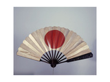 War Fan with Iron Endplates Decorated with the Sun Disc Giclee Print