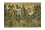 "An Anonymous Painting ""The Flight of the Emperor Ming Huang to Shu"" Giclee Print"