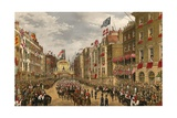 Temple Bar, London, 7 March 1863 Giclee Print by Robert Dudley