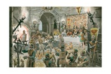Medieval Banquet Giclee Print by Peter Jackson