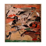 Scroll Fragment Depicting the Battle of Rokuhara Giclee Print