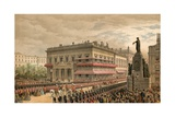Waterloo Place and Pall Mall, 7 March 1863 Giclee Print by Robert Dudley
