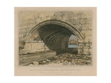 Arch of Old London Bridge Called Long Entry Lock Giclee Print by Edward William Cooke