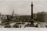 Trafalgar Square, Showing the National Gallery and St Martin's-In-The-Fields, London Photographic Print
