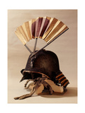 Helmet Adorned with a War Fan Giclee Print
