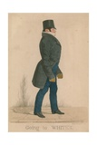 William Arden, 2nd Baron Alvanley; Going to Whites Giclee Print by Richard Dighton