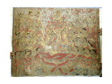 Cloth Painting, Probably Used as Curtains Beside a Temple Couch Giclee Print
