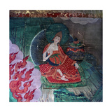 Thang-Ka (Sacred Temple Banner), Used as an Aid for Meditation Giclee Print