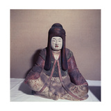 Statue of the Shinto Goddess Nakatsu Hime Zo Wearing the Robes of a Court Lady Giclee Print