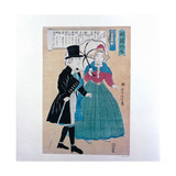 A Well-To-Do European Gentleman with His Japanese Wife Giclee Print