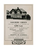 Advert for the Purhcase of a House in Golders Green Giclee Print